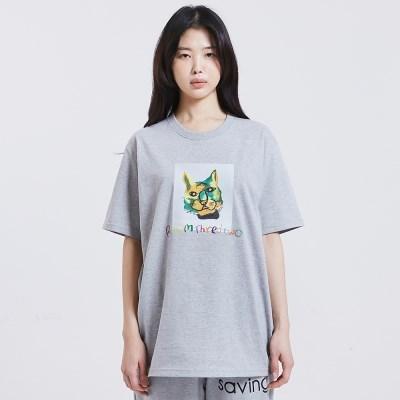 [방실이 시리즈] 방실이 스퀘어 숏슬리브 티셔츠 [GRAY]