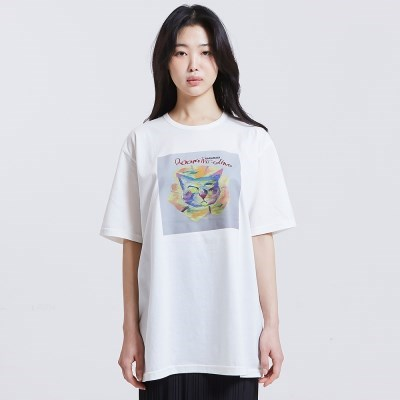 [방실이 시리즈] 방실이 Flower 숏슬리브 실켓 티셔츠 [IVORY]
