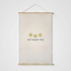 스마일 꽃 패브릭 포스터-세로 ver