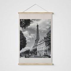 빈티지 필름 패브릭 포스터 _ 흑백 에펠탑