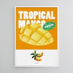 망고 M 유니크 인테리어 디자인 포스터 과일 주스 카페