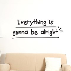 everything is gonna be alright 감성 레터링 스티커
