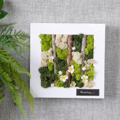 숲속의물망초액자 20cm 인테리어 장식 꽃 조화 FSCANM