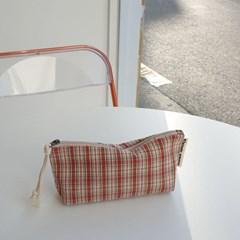 pencil case 빈티지체크#01