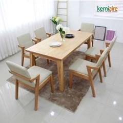아로아 6인용 원목식탁SET(의자형) KHD-638