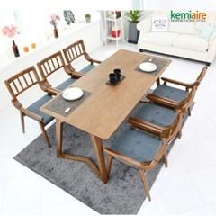 켈라인 6인 원목식탁SET(의자형) KHD-660