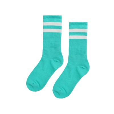 TWO LINE MIDDLE SOCKS_MINT_(1879469)
