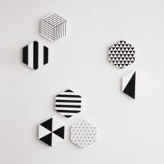 헥사곤 디자인 패턴 냉장고 자석 마그넷 홀더 소품
