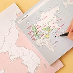 [혼자공부] 지도 메모패드 (50매)