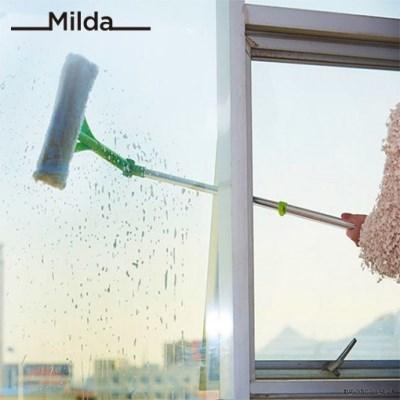 살림의발견 밀다 접이식 아파트 베란다 창문 유리창 청소기