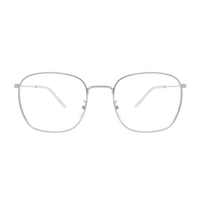 Keats SILVER 스퀘어 메탈 안경