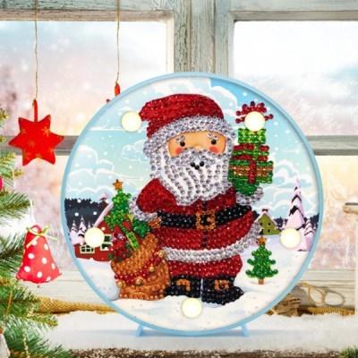 선물과 산타 DIY 십자수 무드등 어린이 보석십자수_(2568280)