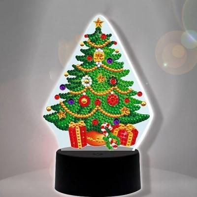 크리스마스 트리 diy 십자수 무드등 어린이 보석십자수_(2568267)