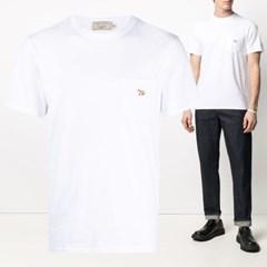 21SS 폭스 패치 포켓 티셔츠 화이트 GM00116KJ0008 WH