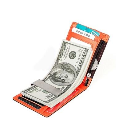 바이슨데님 수제 가죽 RFID 도난방지 머니클립 카드지갑 W4526-1