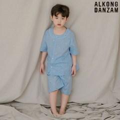 알콩단잠 남아 여름아동잠옷 무빙 순면 반팔 파자마 어린이 실내복