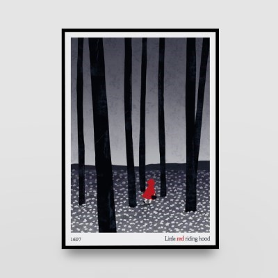 일러스트 포스터 / 인테리어 액자_little red riding hood 01