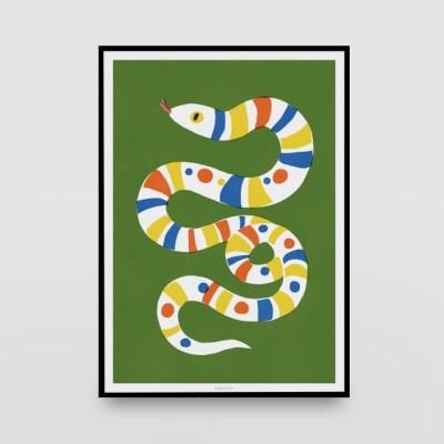 일러스트 포스터 / 인테리어 액자_snake 01