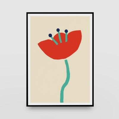 일러스트 포스터 / 인테리어 액자_flowers 04