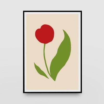 일러스트 포스터 / 인테리어 액자_flowers 03