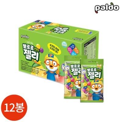 팔도 뽀로로 젤리 포도 복숭아 레몬맛 53g x 12봉