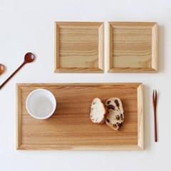 후식 쟁반 + 차받침 2P세트