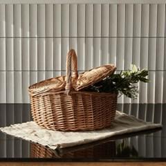 [모던하우스] L 버드나무 피크닉 덮개바구니