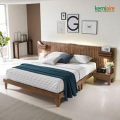 프리미엄 고무나무원목 침대프레임(K,Q) KBD-401