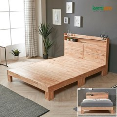 참죽나무 원목 침대프레임(Q) KMD-242