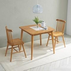 트리빔하우스 밤비 고무나무 2인용 테이블(의자별도)_TB21F30
