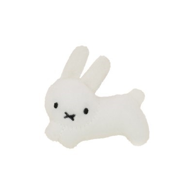Rabbit Plush Mascot Badge (Bruna Family)