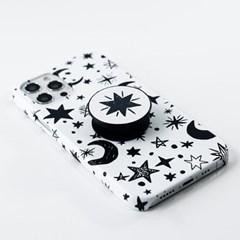 B&W 스페이스 톡톡 하드 디자인 제작 감성 케이스 갤럭시 S21 노트