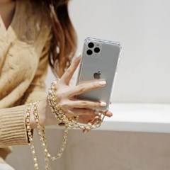 갤럭시 A퀀텀2 (A826) 여행 진주체인 핸드폰줄 케이스