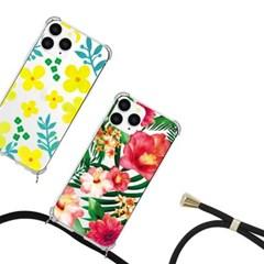 갤럭시 A82 5G (A826) 플라워 핸드폰줄 케이스