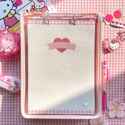 [텐바이텐 단독] 핑크 글리터 노트 파우치 세트
