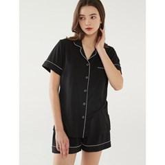 여성반팔잠옷 홈웨어 블랙수트 반소매 페어 3137(여성)