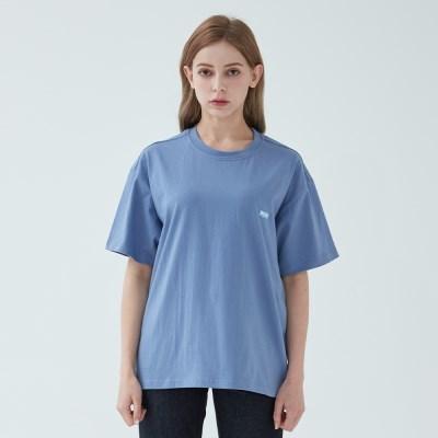 와이즈 베이직 로고 티셔츠 (인디고)
