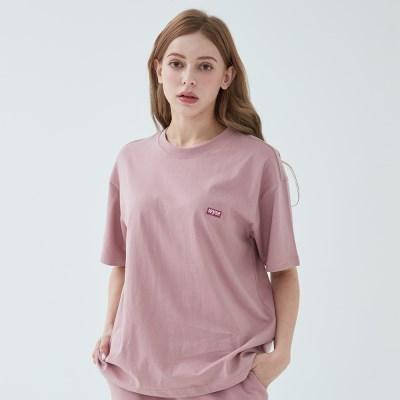 와이즈 베이직 로고 티셔츠 (코랄)