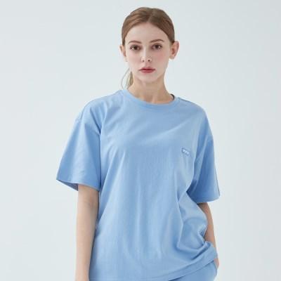 와이즈 베이직 로고 티셔츠 (스카이블루)