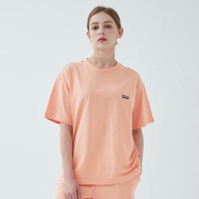 와이즈 베이직 로고 티셔츠 (네온 오렌지)