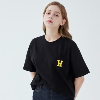아플리케로고 티셔츠 (블랙)