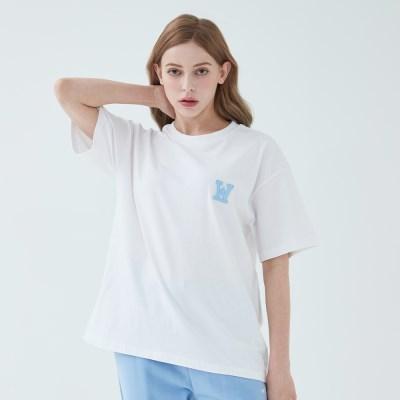 아플리케로고 티셔츠 (화이트)