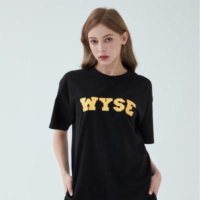 컬리지 로고 티셔츠 (블랙)