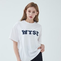 컬리지 로고 티셔츠 (화이트)