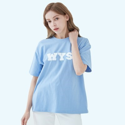 컬리지 로고 티셔츠 (스카이블루)