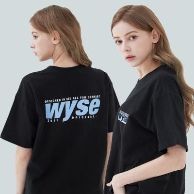 와이즈 컴포트 프린트 티셔츠 (블랙)