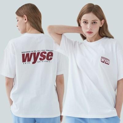 와이즈 컴포트 프린트 티셔츠 (화이트)