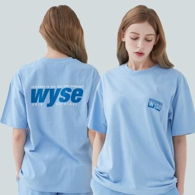 와이즈 컴포트 프린트 티셔츠 (스카이블루)