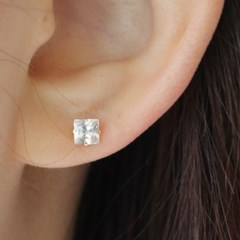 14K 네모큐 귀걸이