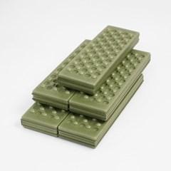 4단 접이식 미니 방석매트 5p세트 방수 야외용방석(그린)